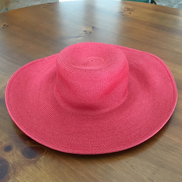 3fd91d895aedd0 Scala Accessories | The Collection Red Wide Brimmed Hat | Poshmark